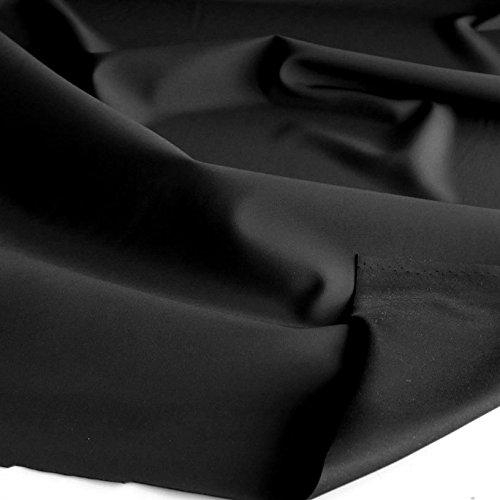 TOLKO Outdoor Softshell-Stoff | Wasserdicht Elastisch Atmungsaktiv | Allwetterstoff für Jacke Hose | 132cm breit Meterware (Schwarz)