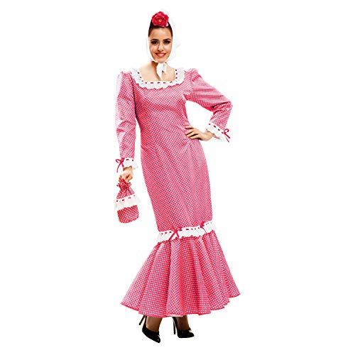 My Other Me - Disfraz de madrileña para mujer, talla XL, color rosa (Viving Costumes MOM02325)
