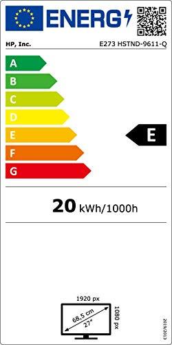 HP EliteDisplay E273 Flachbildschirm, 27 Zoll (68,6cm), Full HD, IPS, Schwarz, Silber, 1.920 x 1.080Pixel, LED, 5 ms, 250 cd/m² - 7