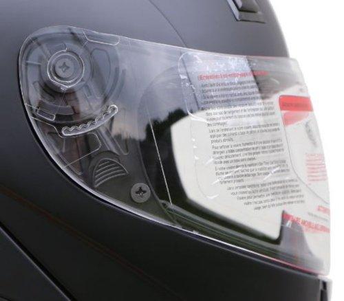 ersatz Visier Helmvisier für ATO 118 K71 Helme (Farbe: glas Klar)