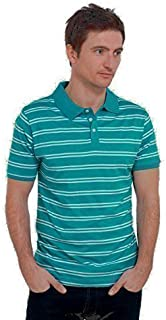 Modern Casuals Mens Striped 100% Cotton Polo Shirt