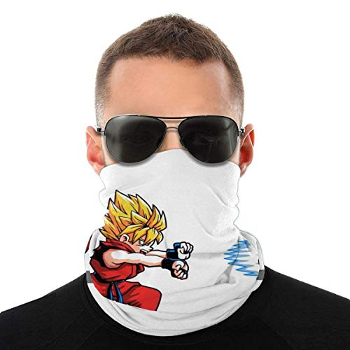 Auld-Shop Saiyajin Street Fighter Dragon Ball Z Hadouken Sorte Kopftuch Gesichtsschutz Magische Kopfbedeckung Hals Gamasche Gesicht Bandana Schal