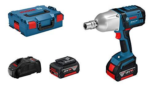 Bosch Professional GDS 18 V-LI HT, 18 V Akkuspannung, 650 Nm Drehmoment, M 12 – M 20 Schrauben-Ø, Schnelllader, L-BOXX 136, 2 x 4,0 Ah Li-Ion Akku