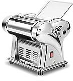 Macchina elettrica Maker Maker Macchina per pasta in acciaio inox Macchina per lasagne fatta in casa Tagliagne Tagliolini Rullo integrato con 2 lame 220 V GADGET GADGET GADGET