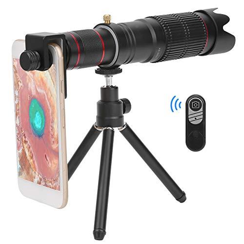 Lazmin Telescopio monocular para teléfono móvil con Zoom 36X, monocular de Lente con Zoom Ajustable Doble con Clip General