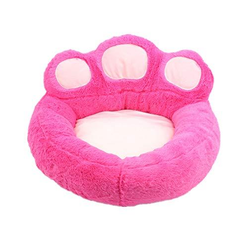 Cuna Perro Colchon Para Perros Lindo Oso Con Forma De Pata, CáLido Nido Para Mascotas, Cama Para Perros Lavable, Mullido, Suave, Felpa, CojíN Para Mascotas De Interior Para Perros Y Gat M,pink