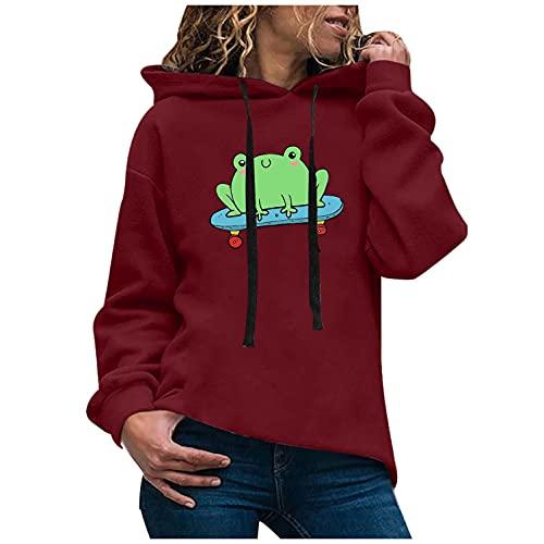 여성 재미있는 동물 인쇄 셔츠 롱 슬리브 패션 스위트셔츠 캐주얼 루스 드로스트링 후디 가을 겨울