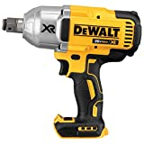 DEWALT 20V MAX XR Cordless Impact Wrench with Hog Ring Pin Anvil, 1/2-Inch , Tool Only (DCF897B) (Renewed)
