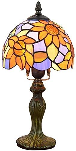 Estilo pastoral Decorativo Lámpara del Banquero Azul Sol Flor Dormitorio Lámpara de mesa Lámpara de noche retro Bar pequeño Hotel Personalidad Art Deco Luz de mesa de campo