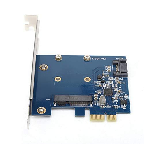 Shipenophy Adaptador PCI-E a M SATA + SATA3.0 Tarjeta de expansión de Tarjeta Vertical fácil de Instalar para Escritorio