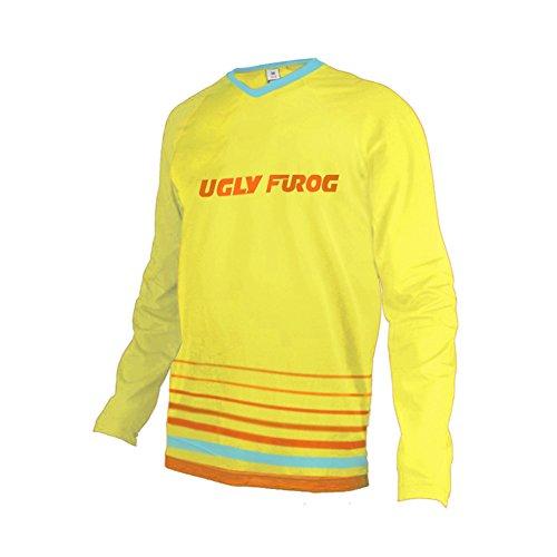 Uglyfrog 2017 MTB Downhill Trikot Kompressionsshirt Herren Langarm Fitness T-Shirt Freizeit Männer Laufshirt Printed und Klassisch Top Funktionswäsche SJFHB03