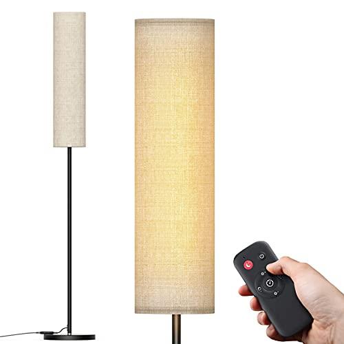 Stehlampe, LED dimmbar Lamp für Wohnzimmer Schlafzimmer 12W Stufenloses dimmbar Stehleuchte mit Fernbedienung hohe 50.000 Stunden Lebensdauer Farbwechsel 3000K-5500K LED Standleuchte