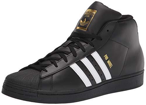 adidas Zapatillas para Hombre Superstar Shoe, Negro Blanco y Dorado, 42 EU