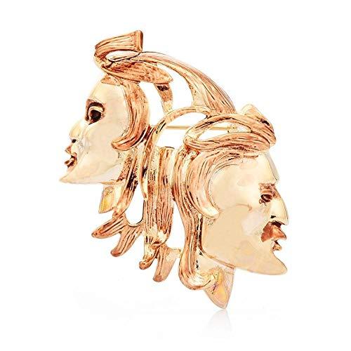 GLKHM Elegante Moda Broches Broches De Doble Cara Accesorios para Broches De Mujer
