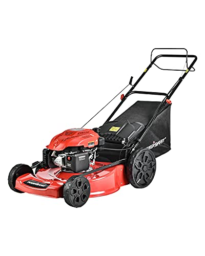 PowerSmart Lawn Mower, 22-inch & 200CC, Gas Powered Self-Propelled Lawn Mower with...