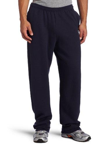 Champion Men's Open Bottom Eco Fleece Sweatpant, Navy, Large