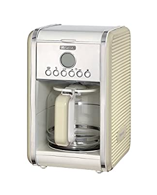 Ariete 1342/03 Retro Style Filter Coffee Machine, 24 Hour Programmable Timer with Pause and Serve Button and Washable Filter, Beige
