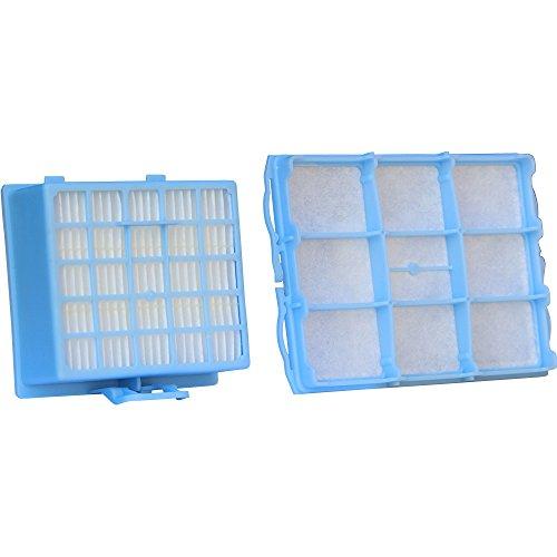 Juego de filtros de aspiradora con 1 filtro HEPA y 1 filtro de protección del motor, adecuado para aspiradoras Bosch BSG6 y Siemens serie VS06G, entre otros