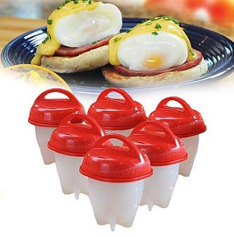 Silicone Egg Boil - Egg Cooker, Hard and Soft Make, No Shell, Egg Cooker, Non Stick Silicone, Egg Boiler, Egg Cups, Egg Poachers, Easy Life, Happy Breakfast(6 pack)
