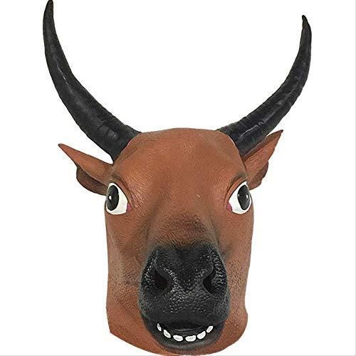DFLMBV Máscara Cabeza Vaca Conjunto Cabeza Animal