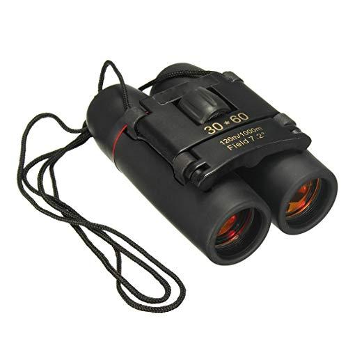 BL Tragbare Mini-Zoom-Teleskop 30x60 Tag und Nacht Camping-Reisen Vision-Spektiv 126m / 1000m optische Binokel (Color : Red Plating Film)