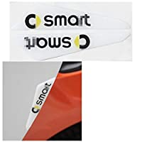 Smart 450 451 453 Fortwo Forfour車のアクセサリー外観デコレーションスタイリングドアアンチコリジョンプロテクターカーステッカー (Color : 白い)