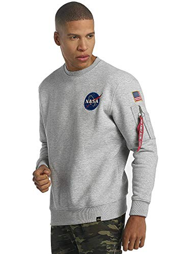 ALPHA INDUSTRIES Sweat Space Shuttle  Grey Heather,  L