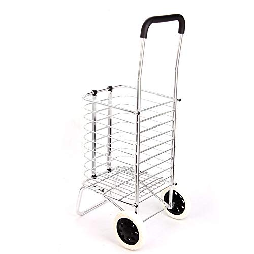 QXTT Large Capacity Shopping Trolley On Wheels Folding Shopping Cart Durable 2 Wheel Shopping Trolley With Frame