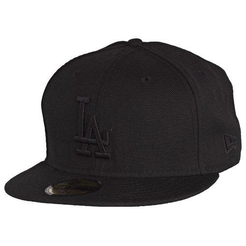 New Era Unisex -59FIFTY – LA Dodgers Essential Mütze, schwarz (schwarz-weiß), 7 3/8