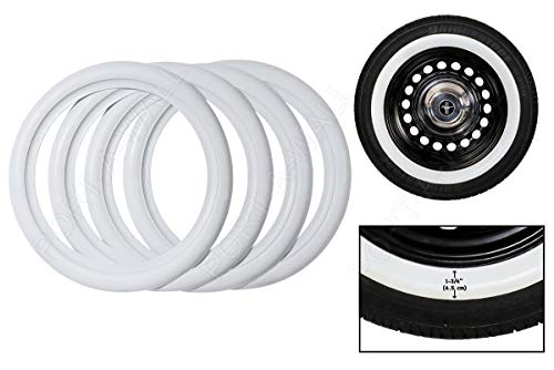 PORT-A-WALL 15 INCH Wheel X 2' Side White Wall TIRE Trims Set 4PCS Very Popular