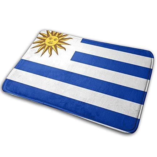 Love girl Bandera de Uruguay Entrada Alfombrilla Baño Piso Hogar Alfombrilla Antideslizante Oficinas Alfombra Cocina Baño Alfombra Decoración 80x50 cm