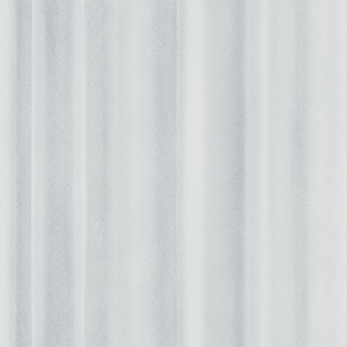 Front 4055 Vlies-Tapete zart gezeichnete, wellige Gardine, Vorhang in hellen Grautönen
