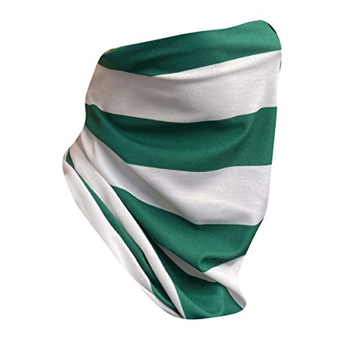 Stitch Snood - Team Colours - Washable Face Covering - Adult - Made in the UK (Green/White)