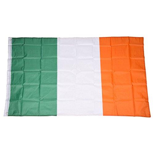 patches brode appliques Ecusson Irlande drapeau bannière blanc 5,3x7,6cm