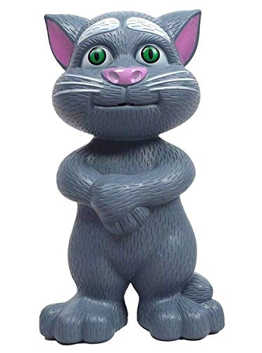 Tejisha Mart Intelligent Talking Tom Speaking Cat Voice Repeat with Touch Recording Story and Songs Toy for Kids (Multi-Color)
