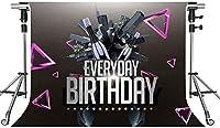 HD誕生日の背景ビール音楽誕生日パーティーの写真の背景お誕生日おめでとうテーマパーティーの写真パックグラウンドの小道具7x5ftZYMT064