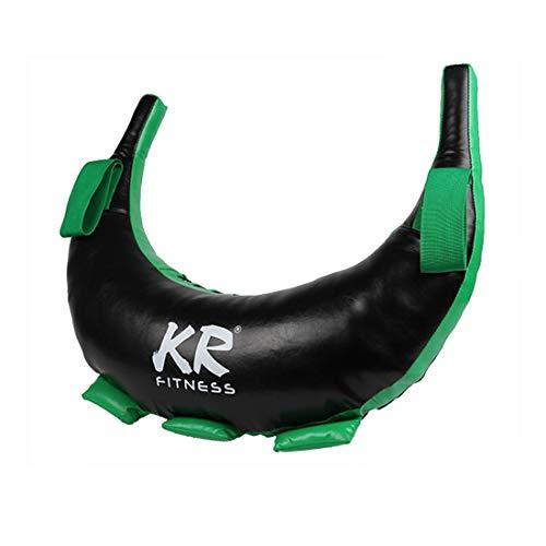 Ggoddess Bulgarian Bag Attrezzatura per esercizi di pesi, fitness, palestra, allenamento di forza, sacco da riempire in 5-25 kg, XS8Y525467E11VGHHL, nero e verde.