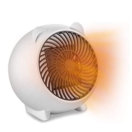 Mini calefactor eléctrico portátil, calefactor de bajo consumo, calefactor eléctrico para salón, cuarto de baño, oficina (color blanco)