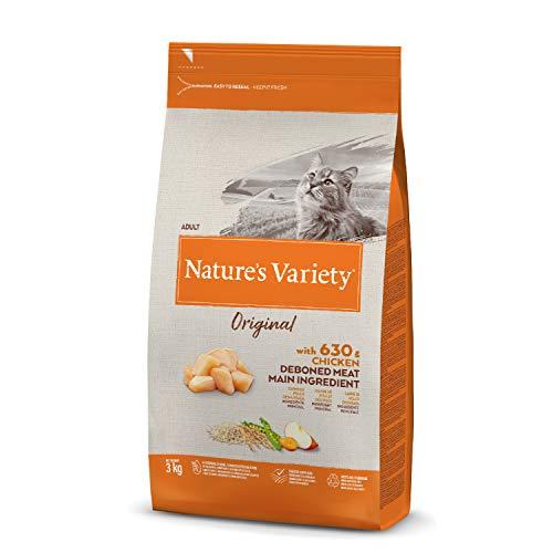 Nature's Variety Original Croquettes pour Chat Adulte avec Poulet Désosé 3 kg 1 Unité