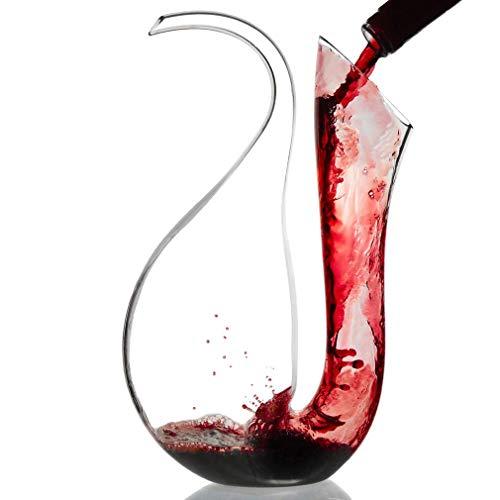 LHLJ Wine Decer, 100% Vidrio soplado a Mano sin Plomo, Resistente Jarra de Vino Tinto, aireador, vertedor