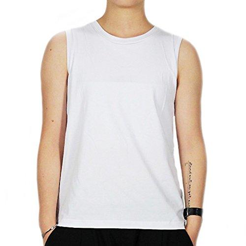 BaronHong Frauen Lesbische Tomboy Baumwolle Bunte Tank Top Weste Brust Binder Stärkere Bandage (weiß, L)