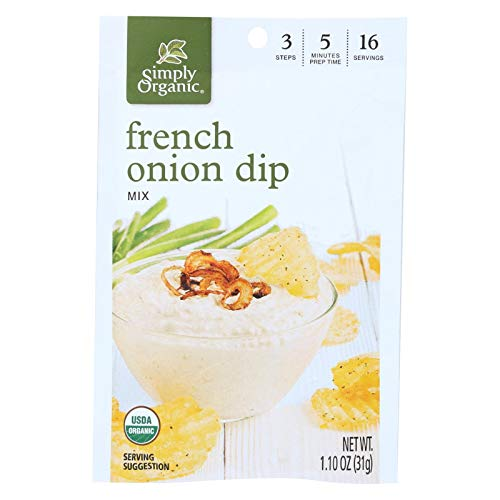 Simply Organic French Onion Dip ( 12x1.1 OZ)