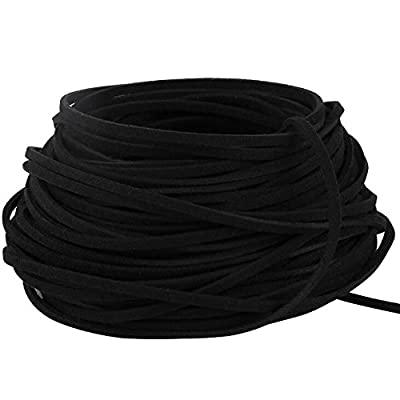 GoFriend 25 Yards Suede Cord Lace Faux Leather Cord Jewelry Making Beading Craft Thread String- 3mm Width