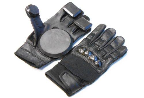 Calidad de piel guantes Longboard guantes deslizamiento // Freeride guantes. Tamaño pequeño.