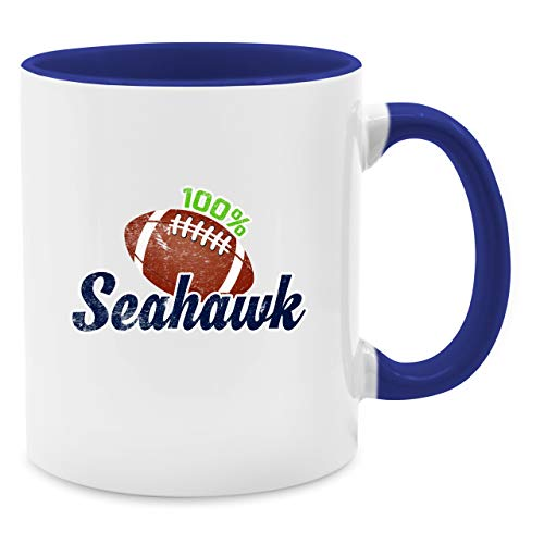 Shirtracer Tasse Hobby - 100% Seahawk - Unisize - Dunkelblau - Geschenk - Q9061 - Tasse für Kaffee oder Tee