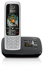 Gigaset C430A Schnurloses Telefon mit Anrufbeantworter (DECT Telefon mit Freisprechfunktion, klassisches Mobilteil mit TFT-Farbdisplay) schwarz-silber©Amazon