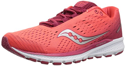 Saucony Women Breakthru 3 Competition Running Shoe Running Shoes Red - Coral 5,5