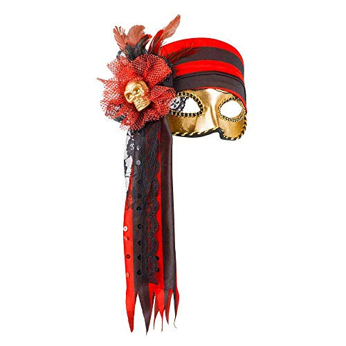 Máscara de pirata estilo Venecia para mujer.