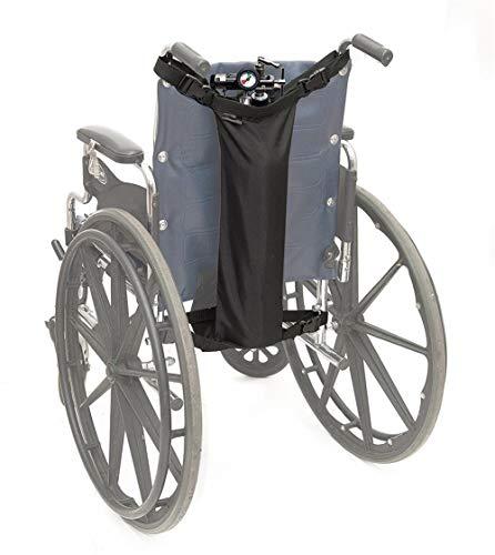 QINAIDI Rollstuhl-Sauerstofftankhalter, passend für D- und E-Tanks, für Rollstuhlwanderer, Sauerstofftankbeutel
