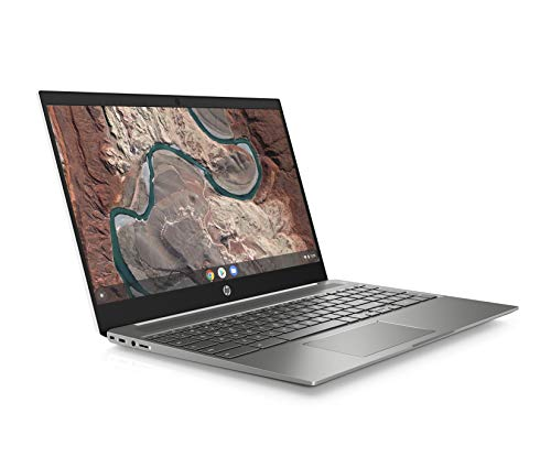 HP Chromebook 15-de0000na 15.6-Inch FHD Laptop, Intel Pentium Gold 4417U, 4 GB RAM, 64 GB eMMC, 100 GB cloud storage with Google One (1 Year Subscription) Chrome OS - White